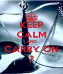 KEEP CALM AND CARRY ON ? - Personalised Poster A4 size