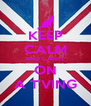 KEEP CALM AND CARRY ON A T'VING - Personalised Poster A4 size