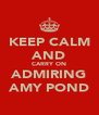 KEEP CALM AND CARRY ON ADMIRING AMY POND - Personalised Poster A4 size