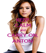 KEEP CALM and CARRY ON, ANTON! - Personalised Poster A4 size