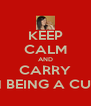 KEEP CALM AND CARRY ON BEING A CUNT - Personalised Poster A4 size