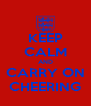 KEEP CALM AND CARRY ON CHEERING - Personalised Poster A4 size