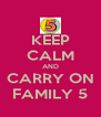 KEEP CALM AND CARRY ON FAMILY 5 - Personalised Poster A4 size