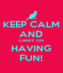 KEEP CALM AND CARRY ON HAVING FUN! - Personalised Poster A4 size