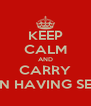 KEEP CALM AND CARRY ON HAVING SEX - Personalised Poster A4 size