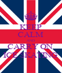 KEEP CALM AND CARRY ON  ICE SKATING - Personalised Poster A4 size