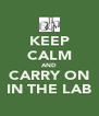 KEEP CALM AND CARRY ON IN THE LAB - Personalised Poster A4 size