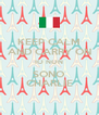 KEEP CALM AND CARRY ON IO NON SONO CHARLIE - Personalised Poster A4 size