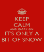 KEEP CALM AND CARRY ON IT'S ONLY A BIT OF SNOW - Personalised Poster A4 size