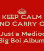 KEEP CALM AND CARRY ON  Its Just a Mediocre Big Boi Album - Personalised Poster A4 size