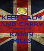 KEEP CALM AND CARRY ON KILLING KAMISI MILLS - Personalised Poster A4 size