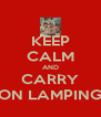 KEEP CALM AND CARRY ON LAMPING - Personalised Poster A4 size
