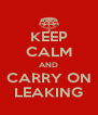 KEEP CALM AND CARRY ON LEAKING - Personalised Poster A4 size