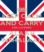 KEEP CALM AND CARRY ON LOVING ALAAH INSHALAAH - Personalised Poster A4 size