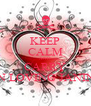 KEEP CALM AND CARRY ON LOVING JANINE - Personalised Poster A4 size