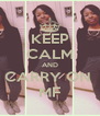 KEEP CALM AND CARRY ON  MF - Personalised Poster A4 size