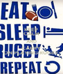 KEEP CALM AND CARRY ON PLAYING RUGBY - Personalised Poster A4 size
