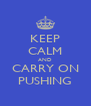 KEEP CALM AND CARRY ON PUSHING - Personalised Poster A4 size