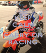 KEEP CALM AND CARRY ON RACING - Personalised Poster A4 size