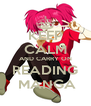 KEEP CALM AND CARRY ON READING  MANGA - Personalised Poster A4 size