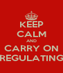 KEEP CALM AND CARRY ON REGULATING - Personalised Poster A4 size