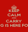 KEEP CALM AND CARRY ON SAFFY G IS HERE FOR AMAANI - Personalised Poster A4 size