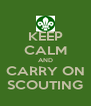 KEEP CALM AND CARRY ON SCOUTING - Personalised Poster A4 size