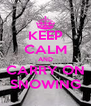 KEEP CALM AND CARRY ON SNOWING - Personalised Poster A4 size