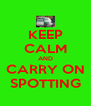 KEEP CALM AND CARRY ON SPOTTING - Personalised Poster A4 size