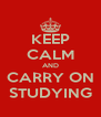 KEEP CALM AND CARRY ON STUDYING - Personalised Poster A4 size