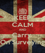 KEEP CALM AND Carry  On Surveying - Personalised Poster A4 size