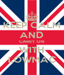 KEEP CALM AND CARRY ON WITH LOWMAC - Personalised Poster A4 size