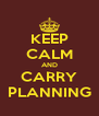 KEEP CALM AND CARRY PLANNING - Personalised Poster A4 size