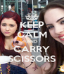 KEEP CALM AND CARRY SCISSORS - Personalised Poster A4 size