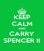 KEEP CALM AND CARRY SPENCER II - Personalised Poster A4 size