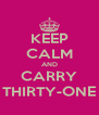 KEEP CALM AND CARRY THIRTY-ONE - Personalised Poster A4 size