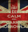 KEEP CALM AND CARRY TOMORROWLAND - Personalised Poster A4 size