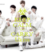 KEEP CALM AND CARRY Ukiss - Personalised Poster A4 size