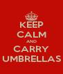 KEEP CALM AND CARRY UMBRELLAS - Personalised Poster A4 size