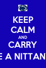 KEEP CALM AND CARRY (YOU'RE A NITTANY LION) - Personalised Poster A4 size