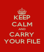 KEEP CALM AND CARRY YOUR FILE - Personalised Poster A4 size