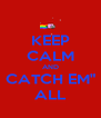 "KEEP CALM AND CATCH EM"" ALL - Personalised Poster A4 size"
