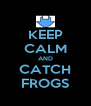 KEEP CALM AND CATCH FROGS - Personalised Poster A4 size