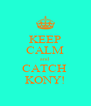 KEEP CALM and CATCH  KONY! - Personalised Poster A4 size