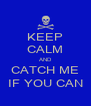 KEEP CALM AND CATCH ME IF YOU CAN - Personalised Poster A4 size
