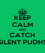 KEEP CALM AND CATCH SILENT PUDHS - Personalised Poster A4 size