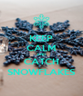KEEP CALM AND CATCH SNOWFLAKES - Personalised Poster A4 size