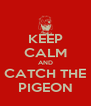KEEP CALM AND CATCH THE PIGEON - Personalised Poster A4 size