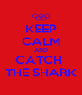 KEEP CALM AND CATCH  THE SHARK - Personalised Poster A4 size