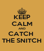 KEEP CALM AND CATCH  THE SNITCH - Personalised Poster A4 size